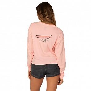 Sisstrevolution Women's Single Dreamin Long Sleeve T-Shirt - Peach