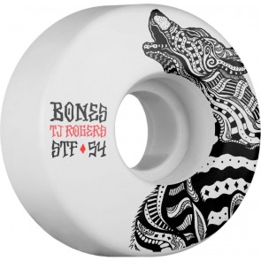 Bones 54mm STF Pro Rogers Wolf Wheels - White