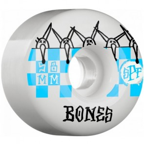 Bones 58mm SPF Tiles Wheels - White