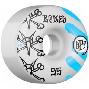 Bones 55mm SPF War Paint Wheels - White