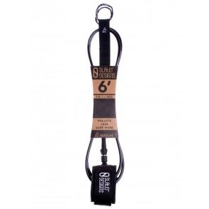 Slater Designs Regular Leash - 6ft - Black/Black