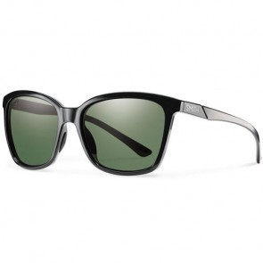Smith Women's Colette Polarized Sunglasses - Black/ChromaPop Grey Green