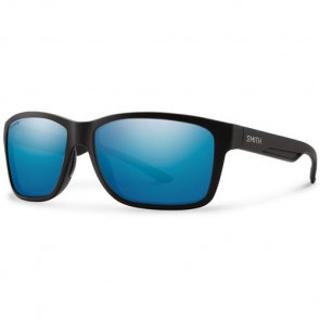 Smith Drake Polarized Sunglasses - Matte Black/ChromaPop+ Blue Mirror