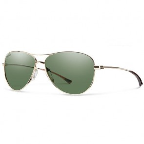 Smith Women's Langley Polarized Sunglasses - Gold/ChromaPop Grey Green