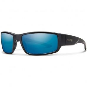 Smith Survey Polarized Sunglasses - Matte Black/Blue Mirror