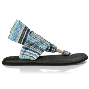 Sanuk Women's Yoga Sling 2 Sandals - Lead Grey/Lanai Blanket