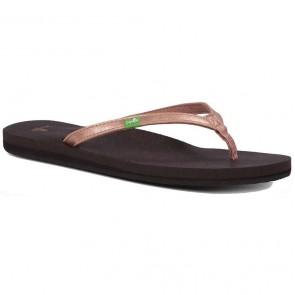 Sanuk Women's Yoga Joy Metallic Sandals - Rose Gold