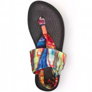 Sanuk Women's Yoga Sling 2 Prints Sandals - Coral/Multi Marble