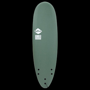 Softech Bomber 6'4 Soft Surfboard - Smoke Green/White - Deck