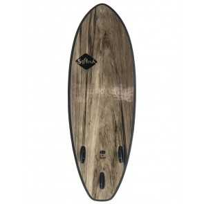 Softech Flash 5'7 Soft Surfboard - Black Marble