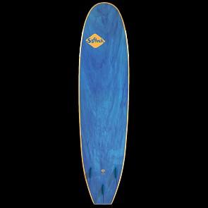 Softech Handshaped 7'0 Soft Surfboard - Orange/Blue Marble