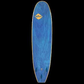 Softech Handshaped 8'0 Soft Surfboard - Orange/Blue Marble