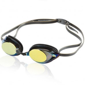 Speedo Vanquisher 2.0 Mirrored Goggle - Deep Gold