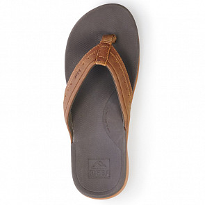 Reef Leather Ortho Spring Sandals - Brown - Top