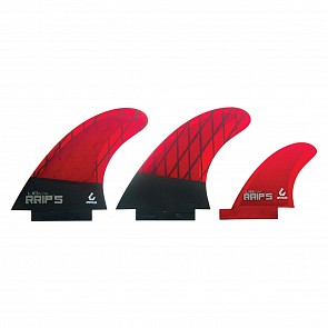 Lib Tech Fins RRIP's Twin + 1 Fin Set - Red