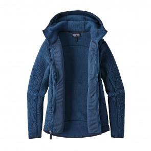 Patagonia Women's Retro Pile Fleece Hoody - Stone Blue