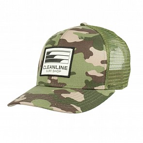 Cleanline Lines Mesh Hat - Army Camo/Surplus