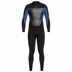 Quiksilver Syncro 4/3 Back Zip Wetsuit - Black/Iodine Blue