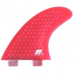 True Ames Fins FCS Eric Arakawa Thruster Fin Set - Red Hexcore