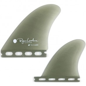 True Ames Fins Futures Lovelace Piggyback Quad Fin Set - Smoke