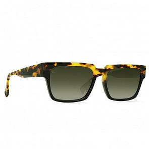 Raen Rhames Sunglasses - Tamarin/Bottle Green Gradient - Side Angle