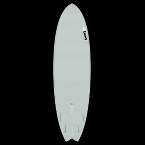 Torq Mod Fish 6'6 x 21 x 2 5/8 Surfboard - Grey/Yellow/Orange