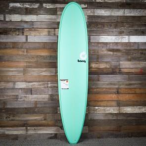 Torq Longboard 8'6 x 22 1/2 x 3 1/8 Surfboard - Seagreen/White - Deck