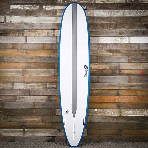Torq Longboard TET-CS 9'0 x 22 3/4 x 3 1/8 Surfboard - White/Teal/Carbon Strip