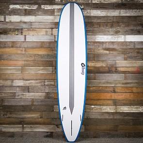 Torq Longboard TET-CS 9'0 x 22 3/4 x 3 1/8 Surfboard - White/Teal/Carbon Strip