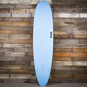 Torq Mini Longboard 8'0 x 22 x 3 Surfboard - Blue/White