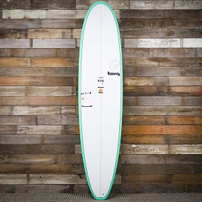 Torq Mini Longboard 8'0 x 22 x 3 Surfboard - Seagreen/White - Deck