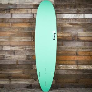 Torq Mini Longboard 8'0 x 22 x 3 Surfboard - Seagreen/White