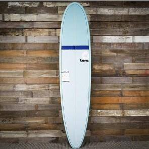 Torq Mini Longboard 8'6 x 22 1/2 x 3 1/8 Surfboard - Blue/Navy/Seagreen - Deck