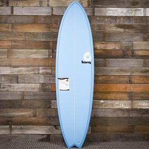 Torq Mod Fish 6'10 x 21 3/4 x 2 3/4 Surfboard - Blue - Deck