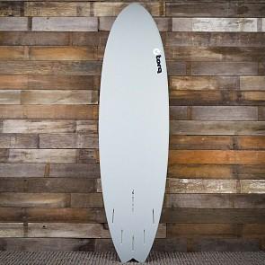 Torq Mod Fish 7'2 x 22 1/2 x 3 Surfboard - Grey/White