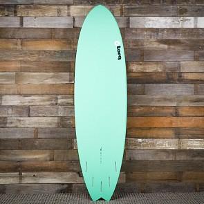 Torq Mod Fish 7'2 x 22 1/2 x 3 Surfboard - Seagreen/White