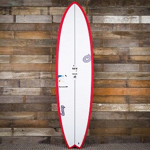 Torq Mod Fish TET-CS 7'2 x 22 1/2 x 3 Surfboard - Red/White - Deck