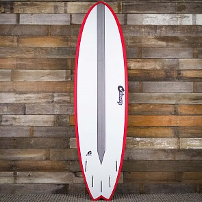 Torq Mod Fish TET-CS 7'2 x 22 1/2 x 3 Surfboard - Red/White
