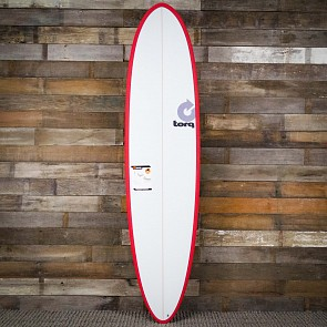 Torq Mod Fun 7'6 x 21 1/2 x 2 7/8 Surfboard - Red/White - Deck