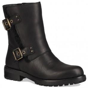 UGG Australia Niels Leather Boots - Black