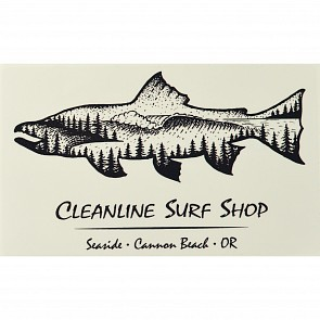 Cleanline Surf Salmon Sticker
