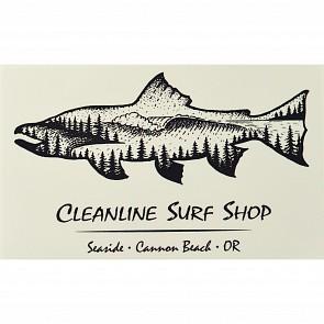 Cleanline Surf Salmon Sticker