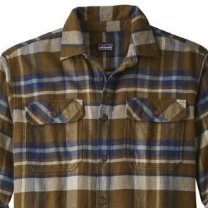 Patagonia Fjord Long Sleeve Flannel Shirt - Basin/Sediment