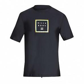 Billabong Stacked Loose Short Sleeve Rash Guard - Black