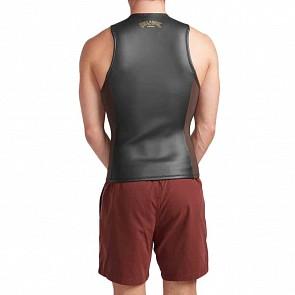 Billabong Revolution Glide 2mm Front Zip Vest - Black