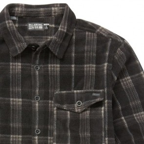 Billabong Furnace Long Sleeve Flannel Shirt - Black