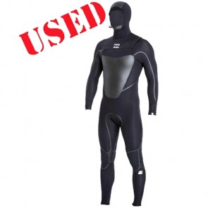 USED Billabong Absolute X 5/4 Hooded Wetsuit - Size LT