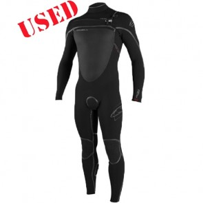 USED O'Neill Pyrotech 4/3 Chest Zip Wetsuit - Size XL