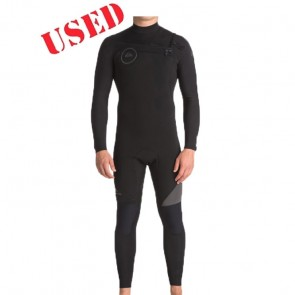 USED Quiksilver Syncro 4/3 Chest Zip Wetsuit - Size X