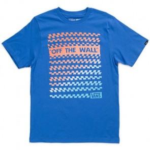 Vans Youth Checks On Checks T-Shirt - Royal